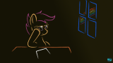 Scootaloo daydreaming - thumbnail