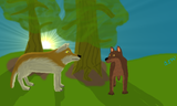 A (were)wolf pair - thumbnail