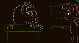 Substitute teacher Fluffle Puff making up grades - thumbnail